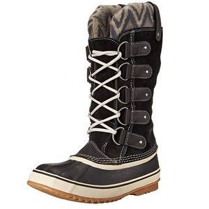 Sorel Joan of Arctic Knit II Boot black grey snow